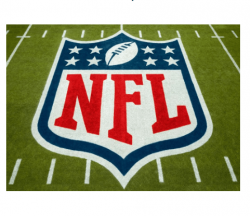 NFL logo w grass